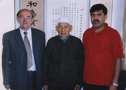 С переводчиком корана на китайский язык (2005 г.)