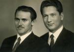 С туркменским другом Аманом Саппаровым (1961 г.)
