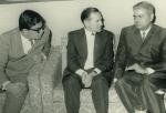 С пакистанскими политическими деятелями (Пакистан, Карачи, 1969 г.)