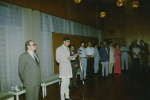 Прием в посольстве СССР в Катманду премьер-министра Непала Г.Койрала (1991 г.)